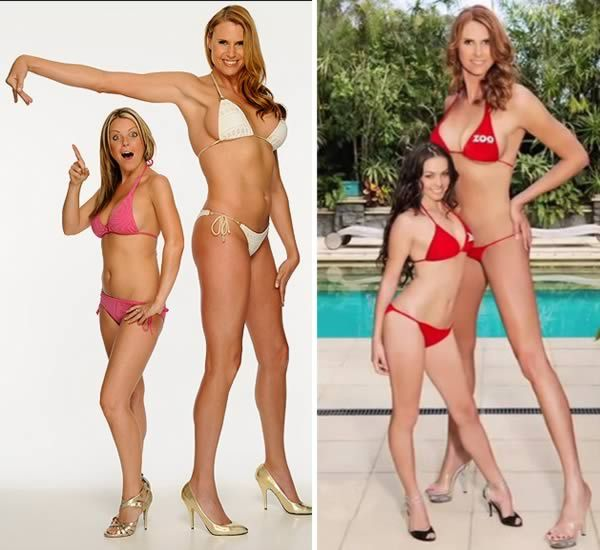 """The Woman Who Holds The Record For Tallest Model at 6'8"""" Tall... That's hot."""