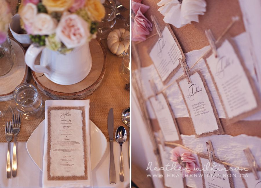 Reception: Clothespin seating chart