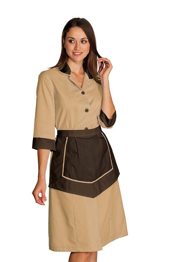 ensemble femme de chambre blouse et tablier pour h tellerie housekeeping maid uniforms. Black Bedroom Furniture Sets. Home Design Ideas