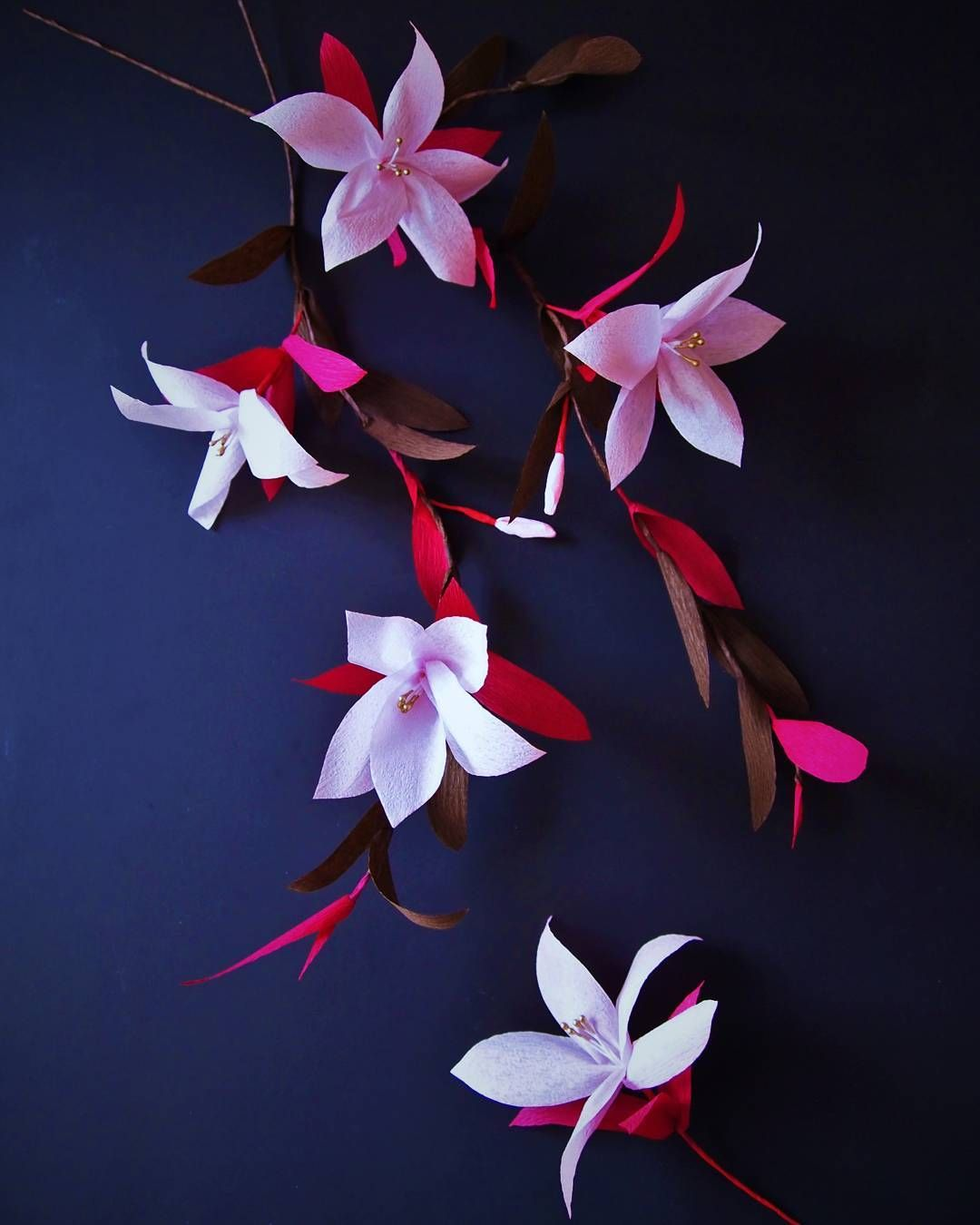 """Crepe Paper blossoms """"Kirschlilien"""" − handmade by Ameli's Lovely Creations"""