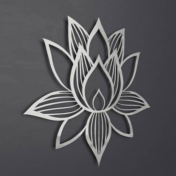 Lotus Flower Metal Wall Art Lotus Metal Art Lotus Flower Etsy Decoracion De Pared De Metal Decoracion De Paredes De Casa Disenos De Mandalas