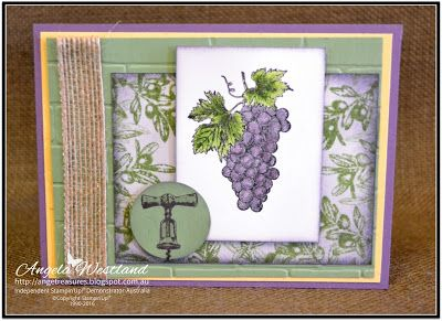 Ange's Treasures: Tuscan Vineyard Layered Card