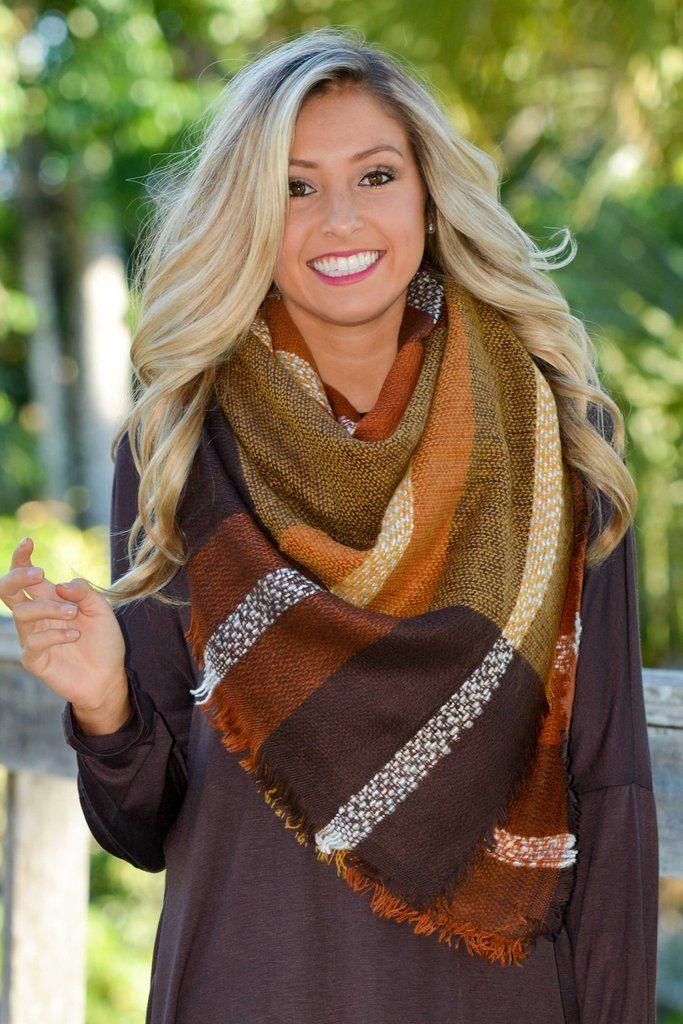 Brown Plaid Blanket Scarf Shop Simply Me Boutique Shop SMB – Simply Me Boutique