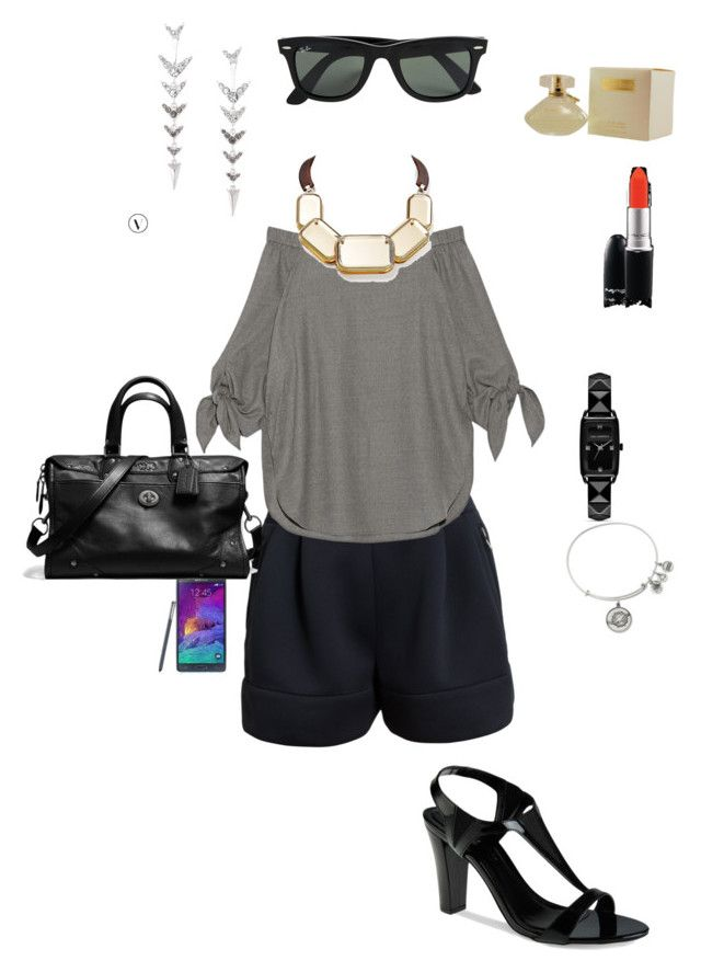 """OOTD 13/12/2015"" by ladykbaez on Polyvore featuring 3.1 Phillip Lim, TIBI, CHARLES & KEITH, Stella & Dot, Alex and Ani, Samsung, Coach, Ray-Ban, Karl Lagerfeld and Lafayette 148 New York"