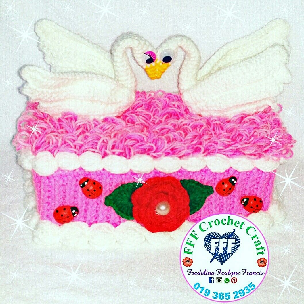 Crochet tissue box cover swan fff crochet craft by fredolina crochet tissue box cover swan ccuart Choice Image