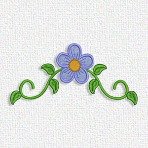 "This free embroidery design from Adorable Applique is called ""Floral"