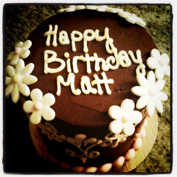 Stupendous Matts Flowery Birthday Cake Cake Happy Birthday To You Birthday Personalised Birthday Cards Bromeletsinfo