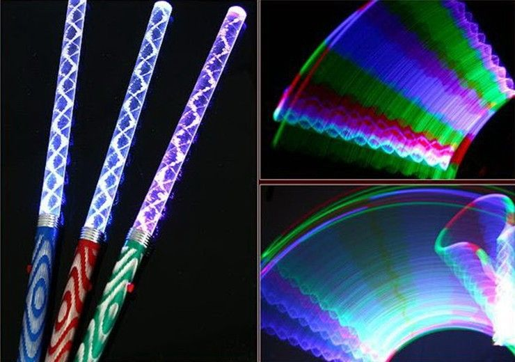 200pcslot led stick color changing led flash light glow stick magic wand christmas free