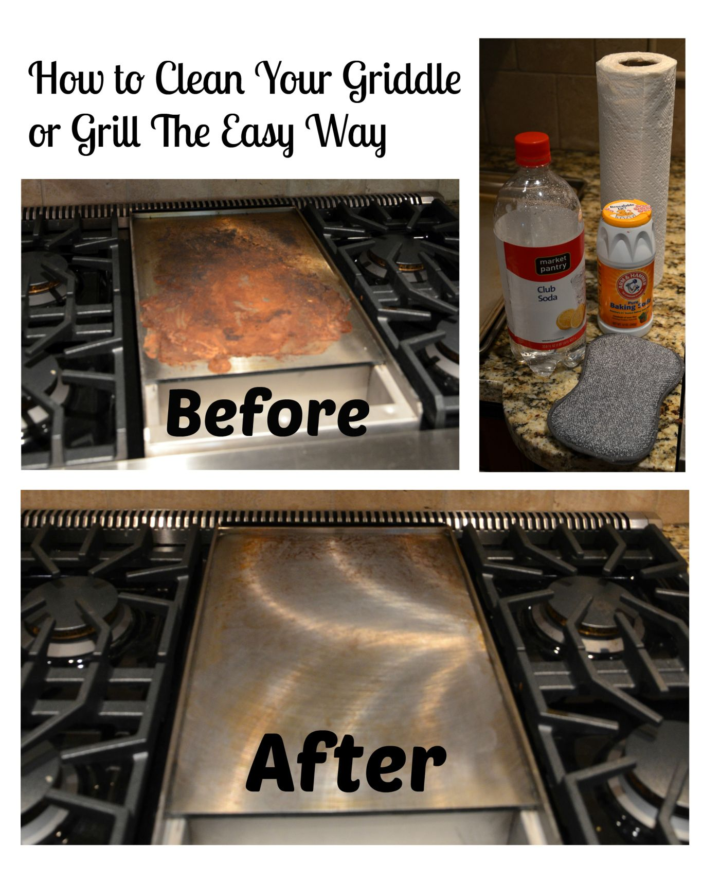 Cleaning your griddle or grill the easy way outdoor