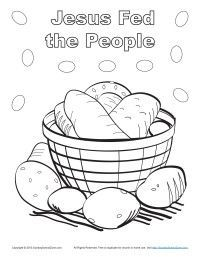 Bible Coloring Page For Kids Make Up Face Pinterest Bible - Feeding-of-the-five-thousand-coloring-page