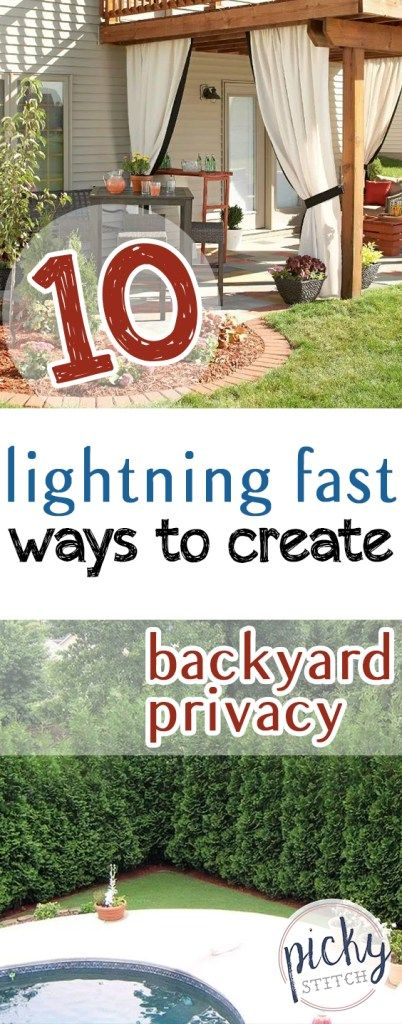 10 Lightning Fast Ways To Create Backyard Privacy| Backyard Privacy, Backyard  Privacy Ideas,