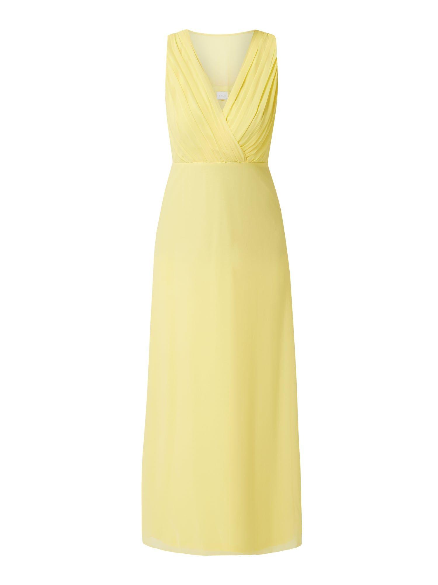 Vila - Abendkleid aus Chiffon - Gelb in 2020 | Abendkleid ...