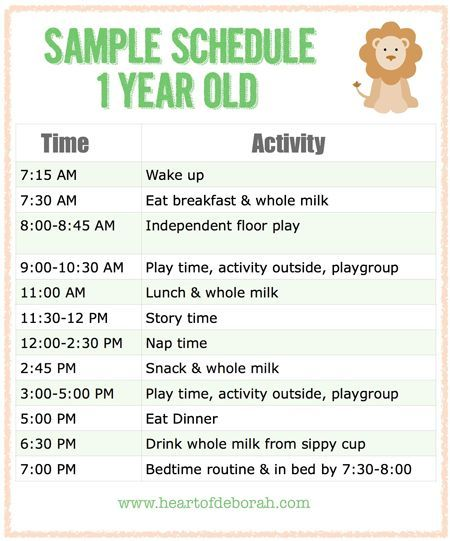 Sample Menu For One Year Old | Baby Schedule, Babies And Parents