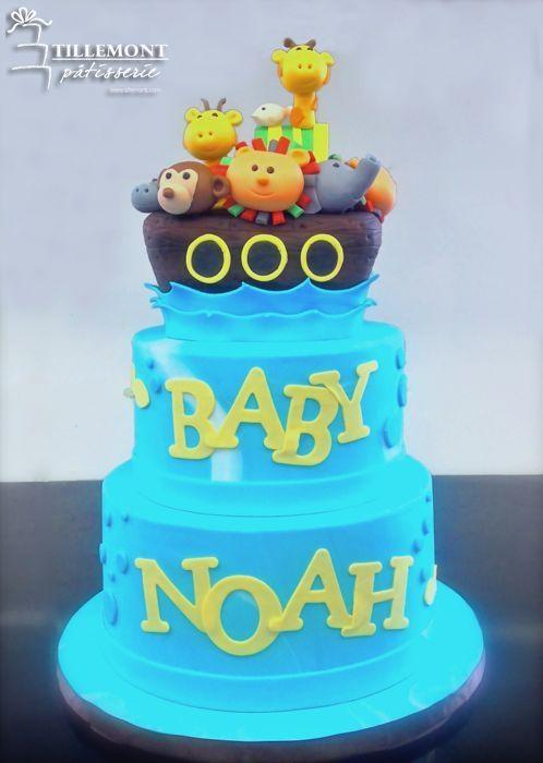 Noahu0027s Ark Topper Baby Shower Cakes | Patisserie Tillemont | Montreal