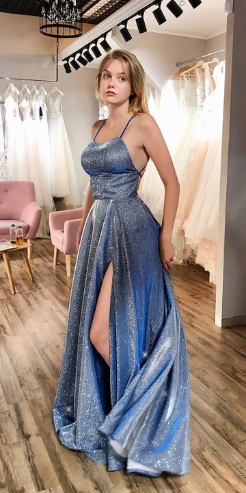 Sexy Sparkling Prom Dress Shinning Fabric, Evening Dress, Special Occasion Dress, Formal Dress, Graduation School Party Gown, PC0528