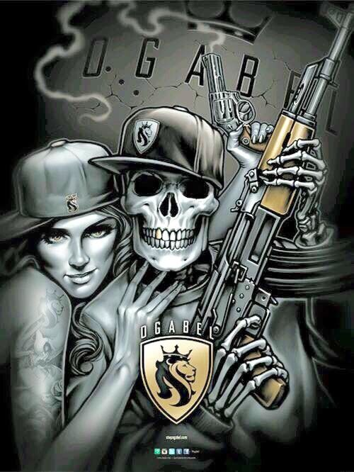 gangster skull skulls pinterest gangsters grim