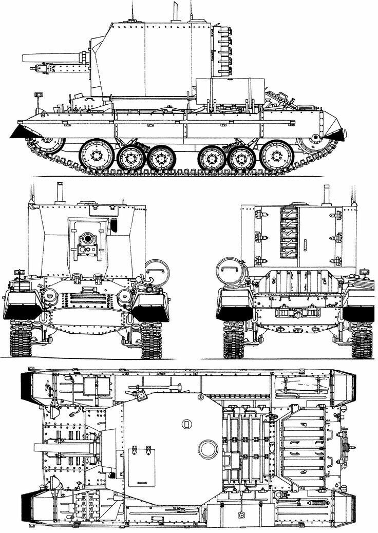 25pdr SPH on the chassis Infantry Tank Mk III