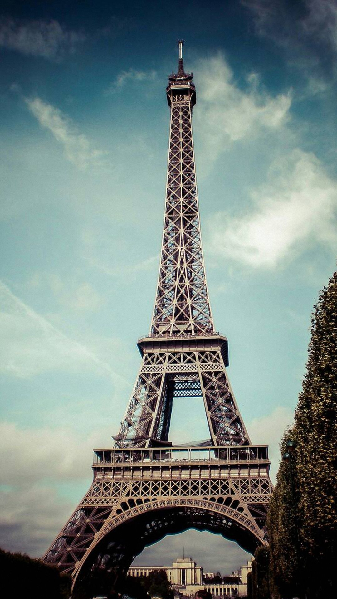 Paris Eiffel Tower Tap To See More City Landscape Iphone