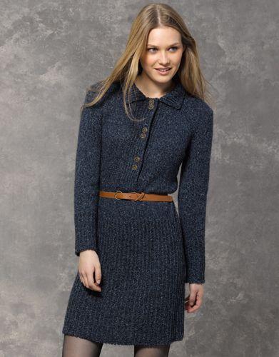 Robe bleu automne hiver