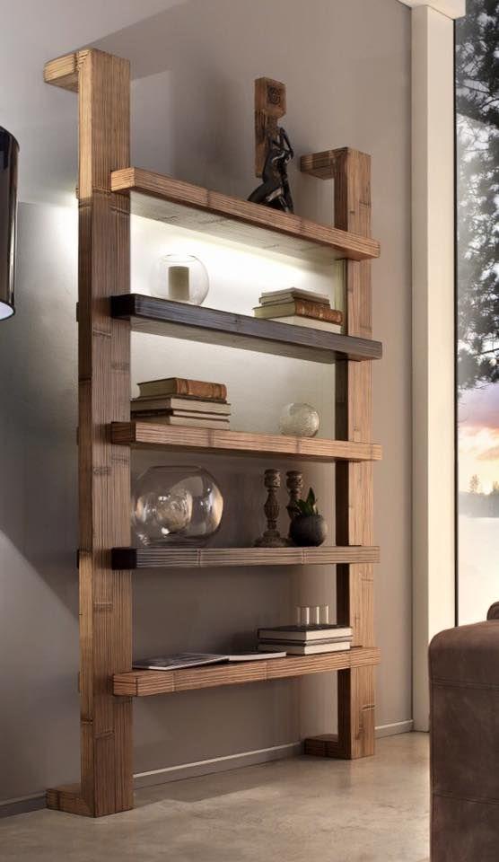 Libreria realizzata con legno massello di frassino spessore 50-60mm ...