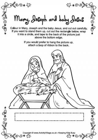 Nativity Printables: Coloring pages; some you can cut out and stand ...