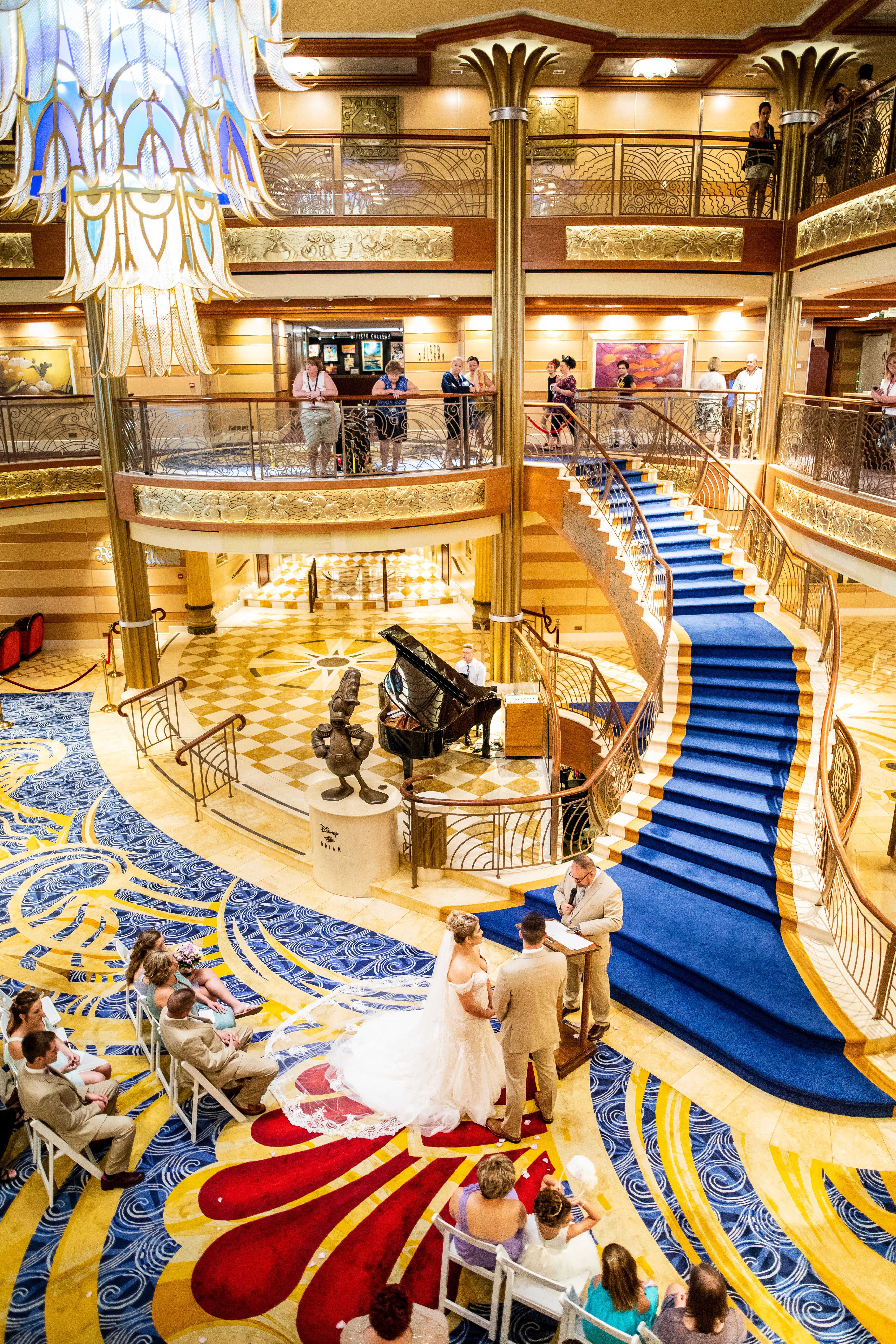 Disney Dream Atrium Cruise Wedding Ceremony Cruise Wedding Ceremony Cruise Wedding Disney Cruise Wedding