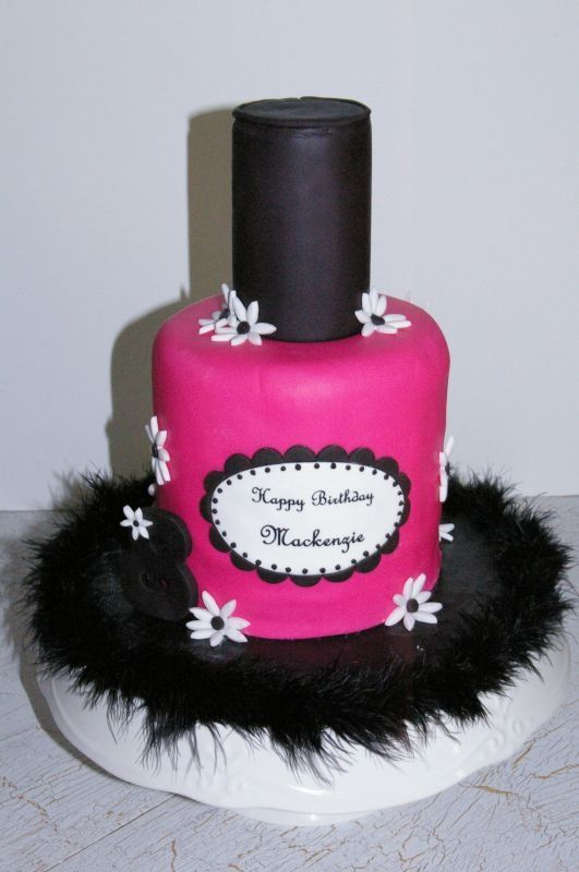 Nail Polish Cake Kids Parties Pinterest Pamper Party Cake And