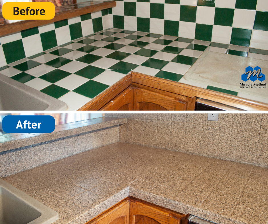 No Need To Rip Out Old Tile When You Can Have It Refinished Tile