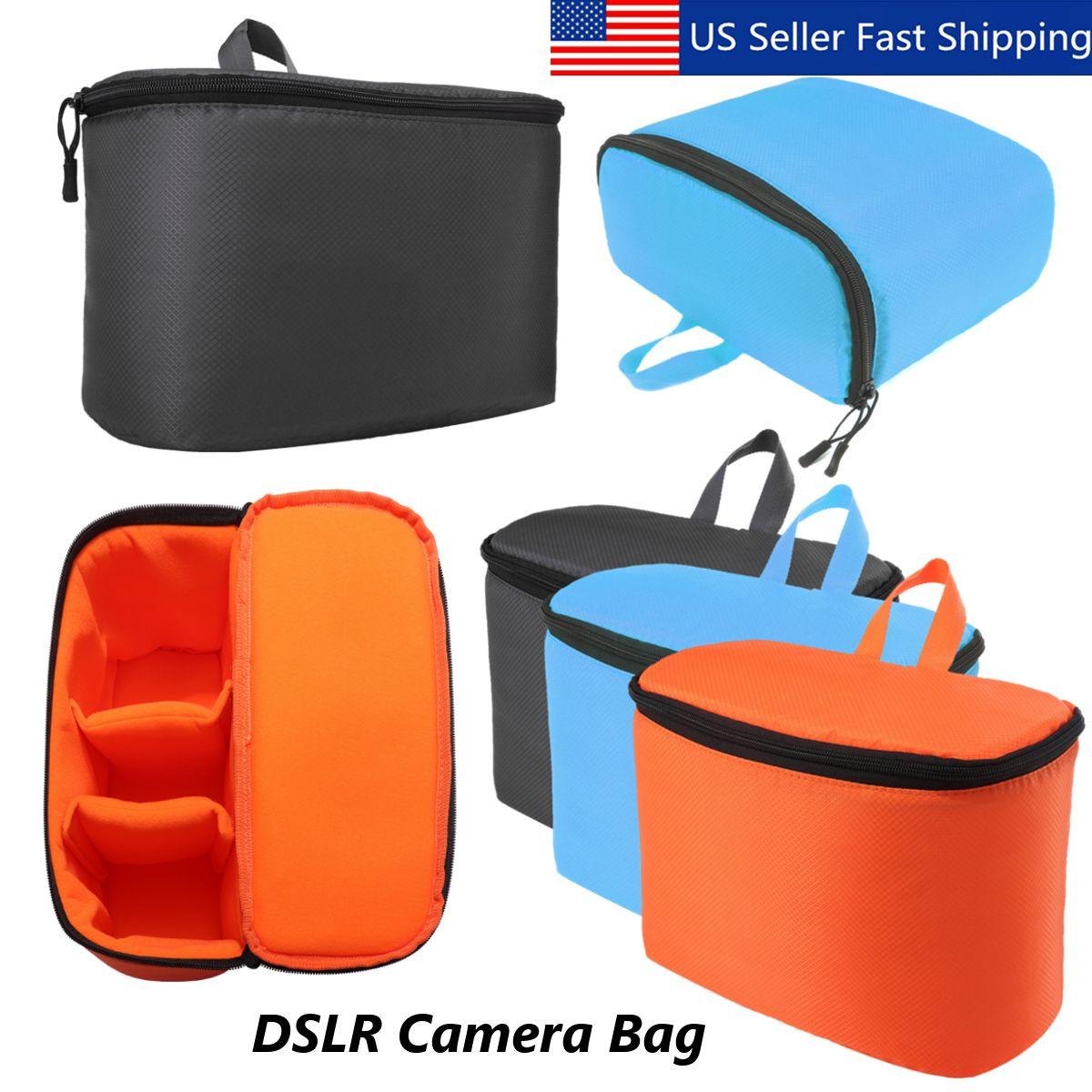 Waterproof Dslr Slr Camera Lens Bag Padded Inner Dividers Insert Lens Case Bag Lens Bag Camera Lens Bags Slr Camera Bag
