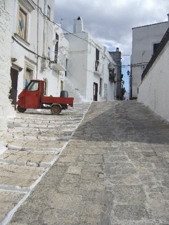 A quiet day in the narrow streets of Ceglie Messapica old town.