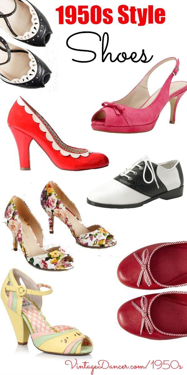 New 1950s Shoes | Vintage sko, Sko og Fodtøj
