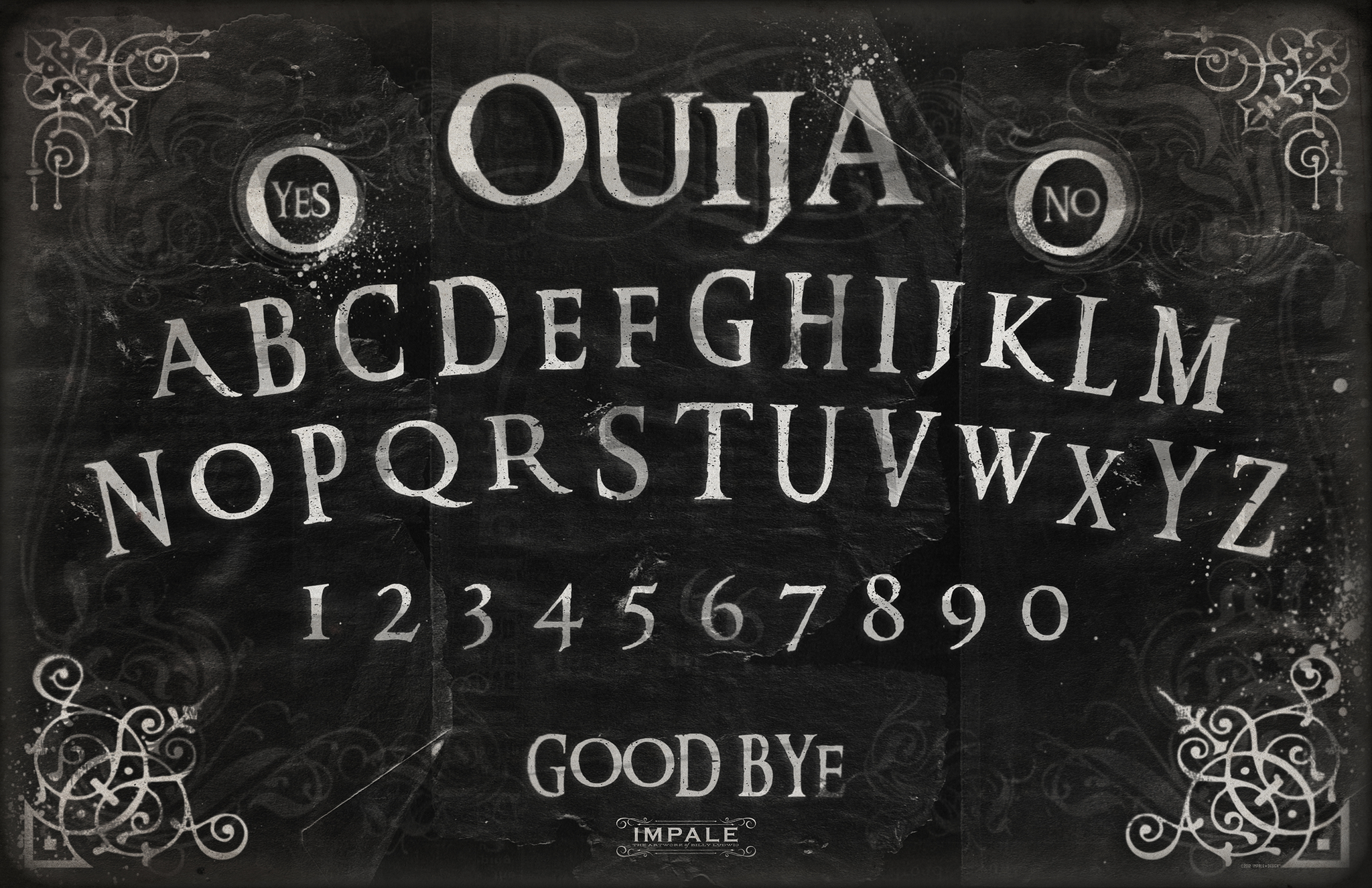 Ouija Classic Black Ouija Ouija Board Halloween Chalkboard Art