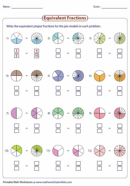 Pin By Pani Hania On Miss Legg S Maths 2nd Grade Math Worksheets Fractions Worksheets Equivalent Fractions Adding fractions using models worksheets