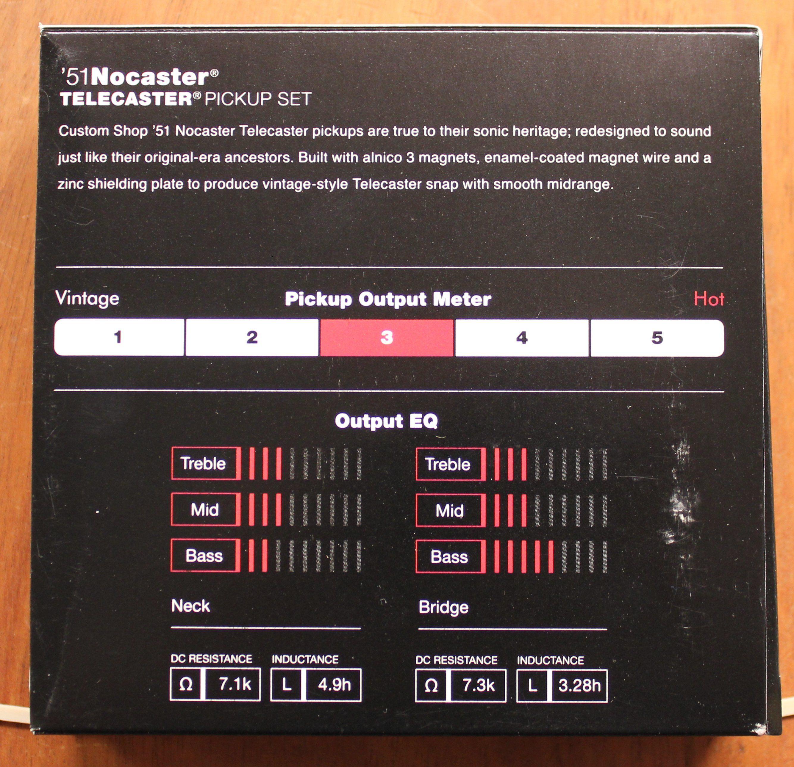 Fender Custom Shop 51 Nocaster Telecaster Pickup Set In 2021 Fender Custom Shop Telecaster Pickups Telecaster