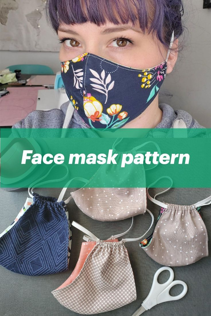 Free Facemask Pattern in 2020 Sewing patterns free, Easy