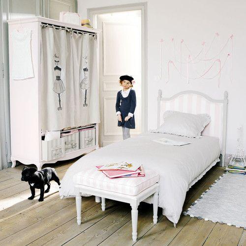 Guardarropa infantil de madera rosa An. 130 cm   decoración ...