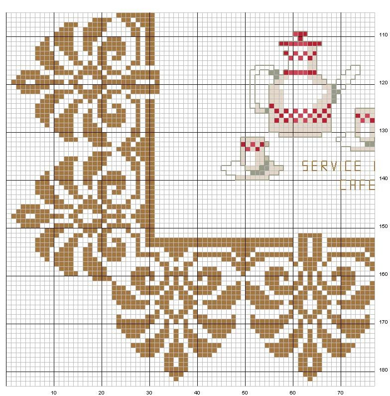Le Caffe 3-8 | técnica tapestry a crochet | Pinterest | Redecilla ...
