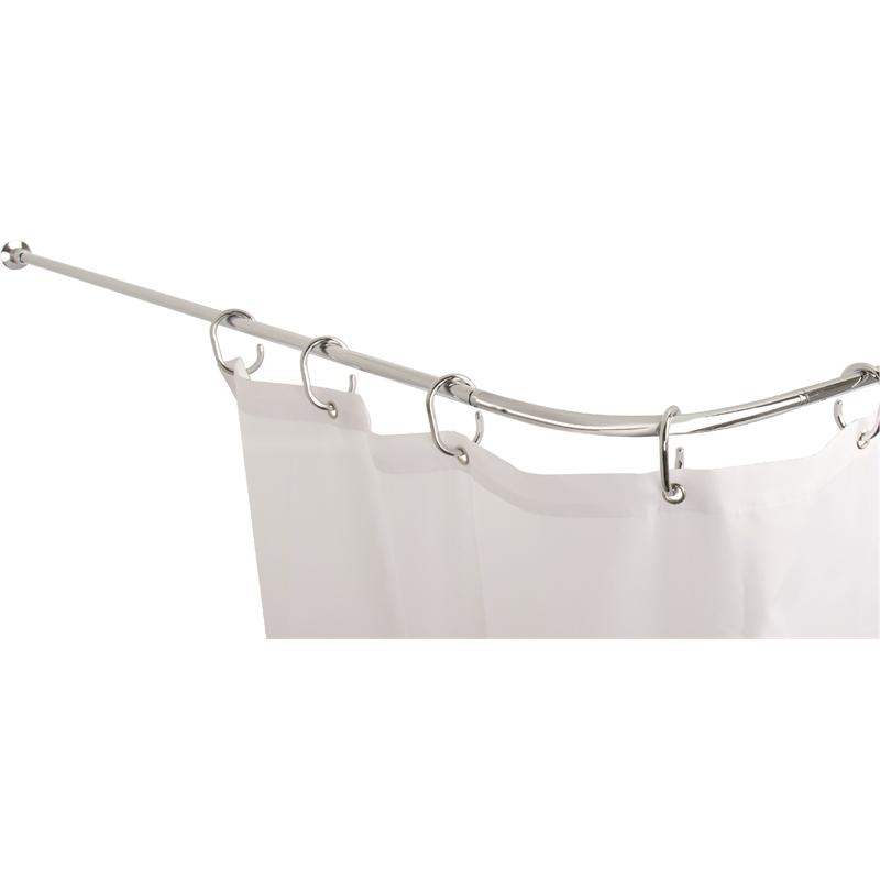 Croydex Fineline Shower Curtain Rod Set Chrome In 2020 Shower