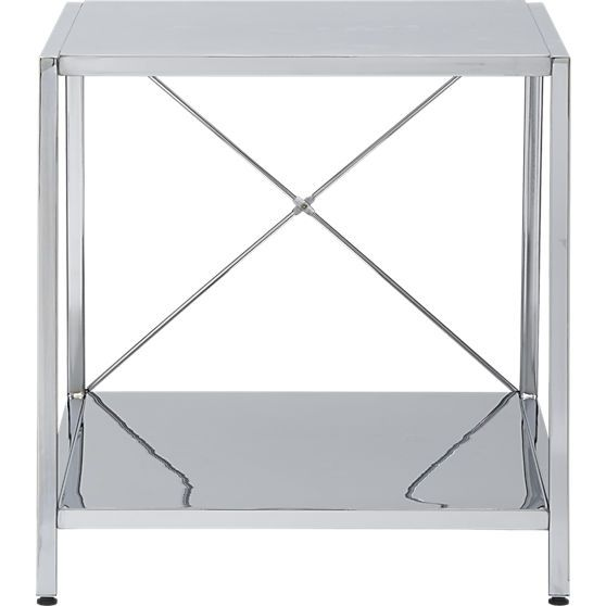 Best Harvey Chrome Nightstand In Accent Tables Cb2 Modern 640 x 480