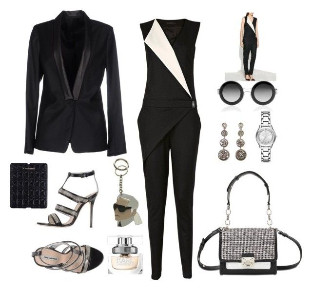 """Sin título #90"" by monivivi ❤ liked on Polyvore featuring Karl Lagerfeld"