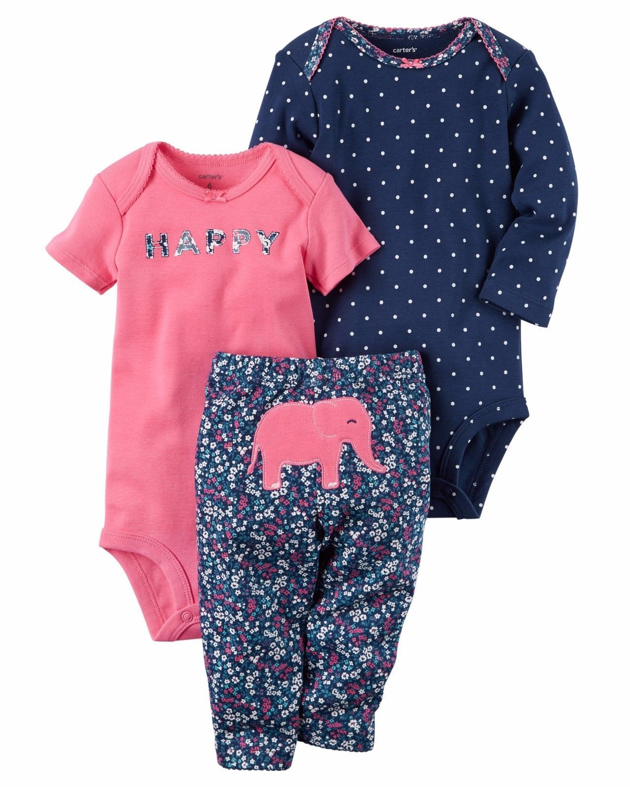 New Carters Baby Girls 2 Piece Top /&  Pant//Legging Set Everyday Wear NWT