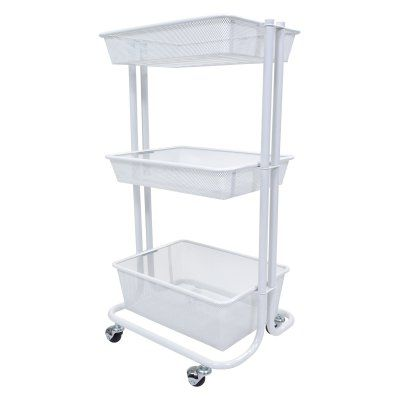 Luxor Kitchen Utility Cart   KUC BK | Kitchen Utility Cart, Kitchen  Utilities And Utility Cart