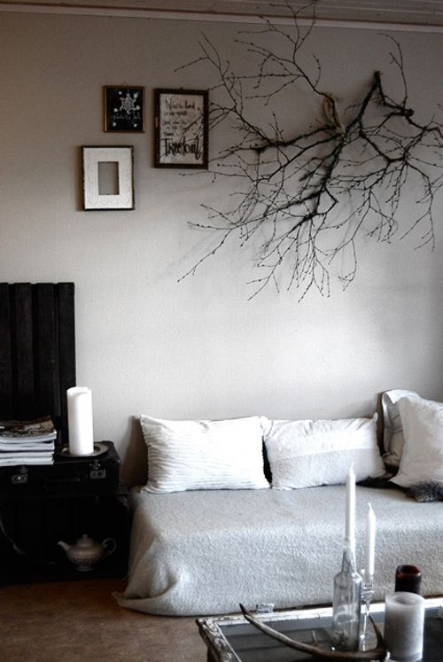 Love The Branch But The Pictures Need To Be Lower Home Home Decor Home Diy