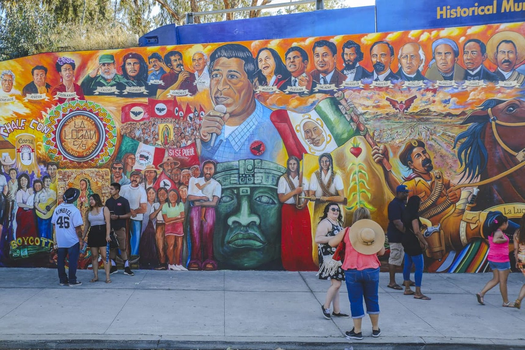 Arte Chicano Murals On The Grid Chicano Park Barrio Logan San Diego Murals And
