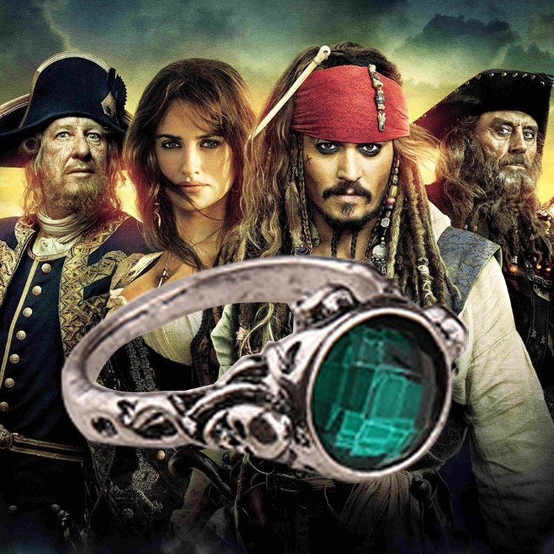 Pirates Of Carribean Captain Jack Sparrow Skull Ring Products
