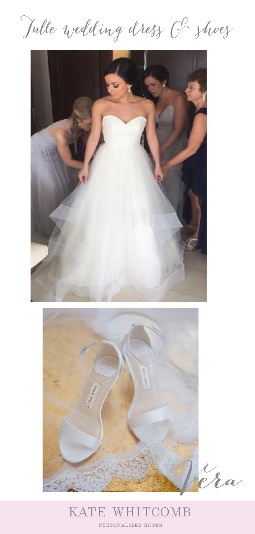 Bride Wedding Dress Wedding Shoes Ivory Wedding Shoes Tulle