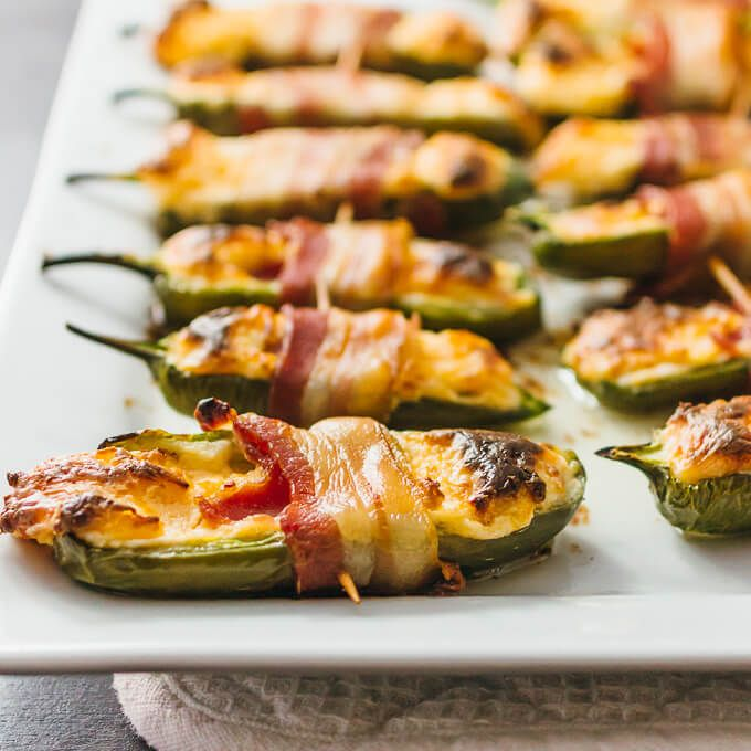 You Ll Love These Bacon Wrapped Jalapeno Peppers Stuffed With Cream Cheese And Shredded Cheddar Super With Images Appetizer Recipes Party Food Appetizers Stuffed Peppers