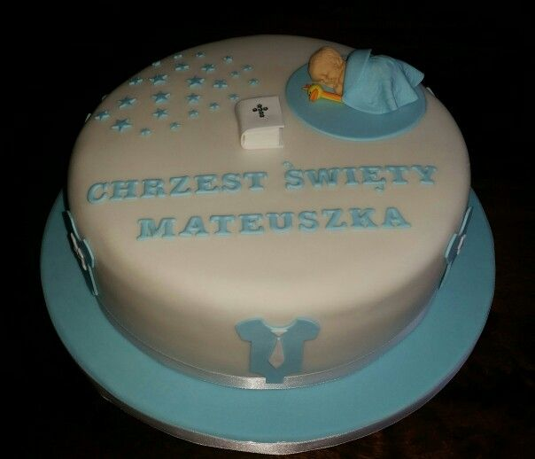 Christening cake for a little boy ;)
