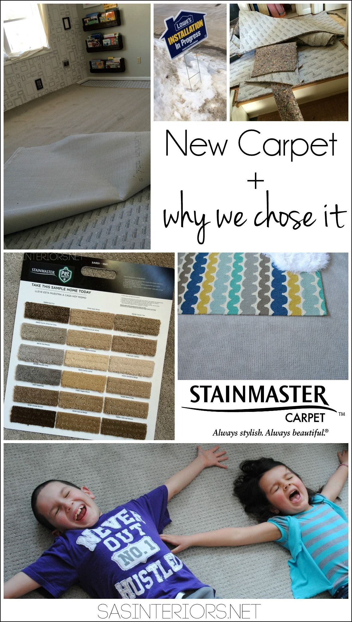 New Stainmaster PetProtect Carpet for the 2nd floor