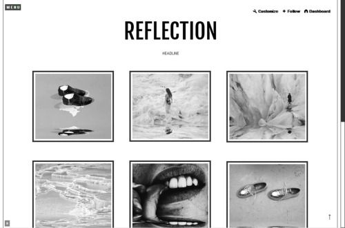 Reflection Theme Simple tumblr theme with titile on header, menu ...